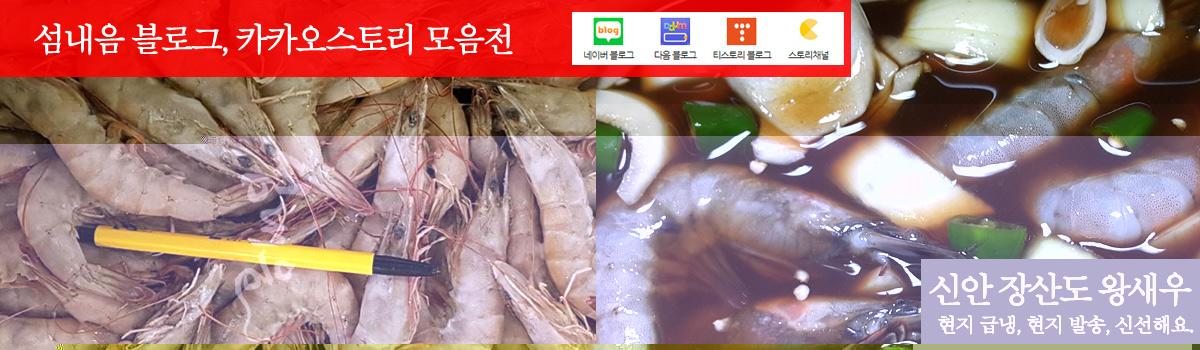 신안군 장산도 급냉 흰다리 새우(왕새우)